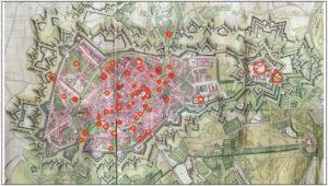 Carte de Strasbourg par comparaison